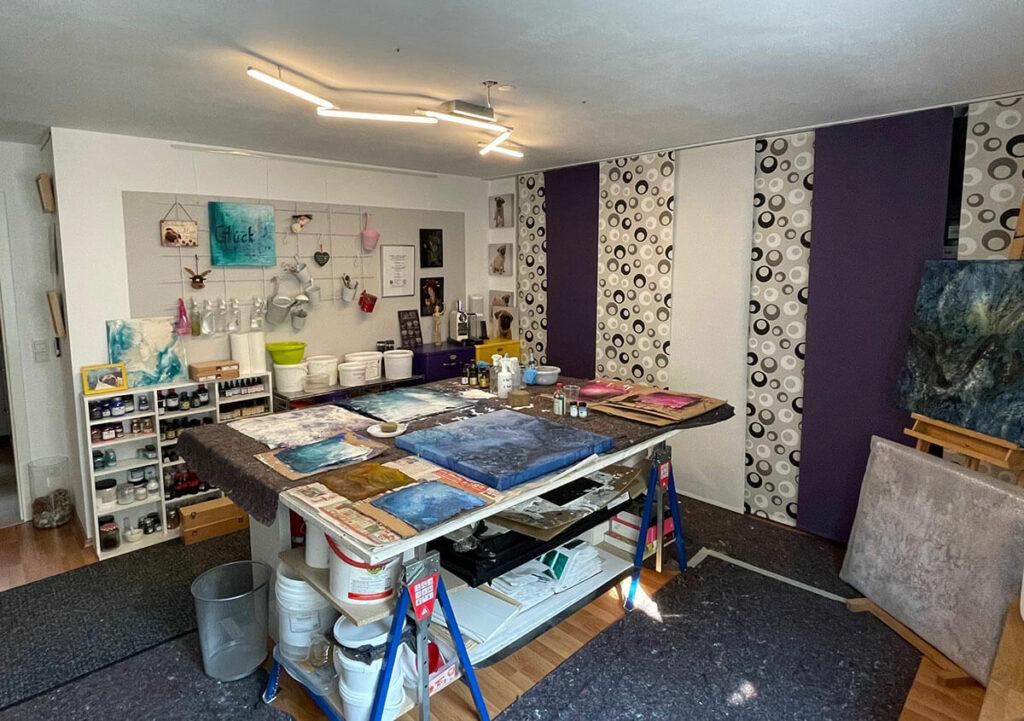 Einblick in das Atelier Artgalerie Andrea