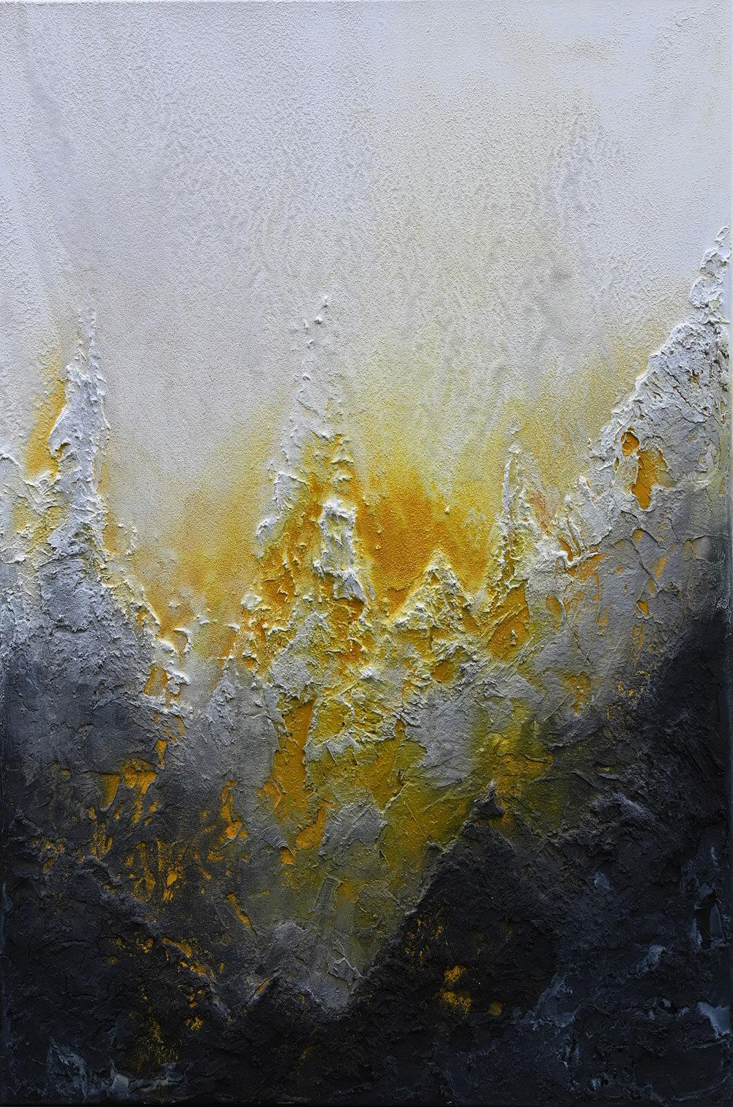 Berg und Tal entstanden im Atelier Artgalerie von Andrea Penndorf