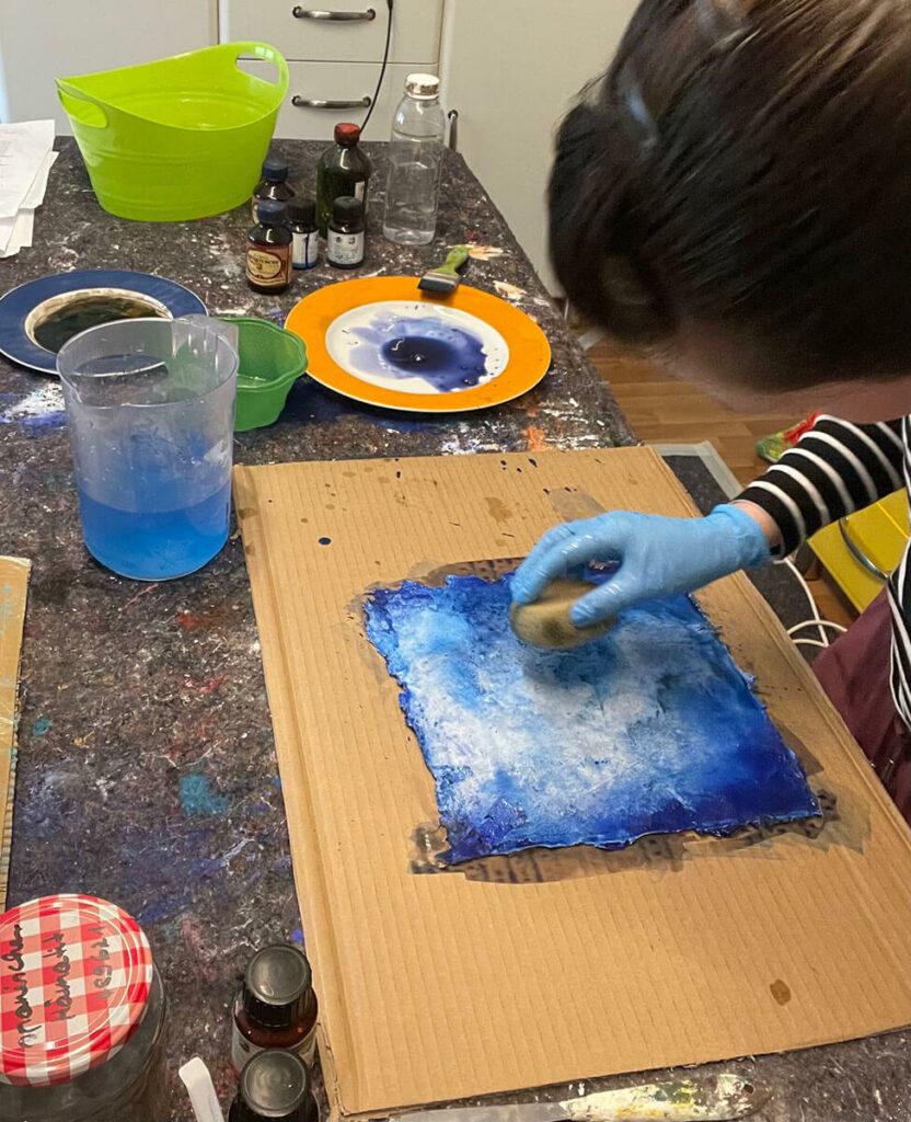 Farbabtrag Atelier Artgalerie Andrea Egelsbach